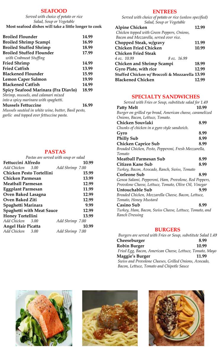 Maggie S Family Restaurant Pizza Kitchen Menu In Corpus